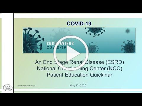 COVID-19: Preparing for a Kidney Transplant During the COVID-19 Pandemic   ESRD NCC