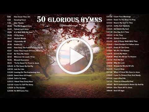 50 Glorious Hymns - How Great Thou Art, Amazing Grace & more. Piano & Guitar Music for Worship!