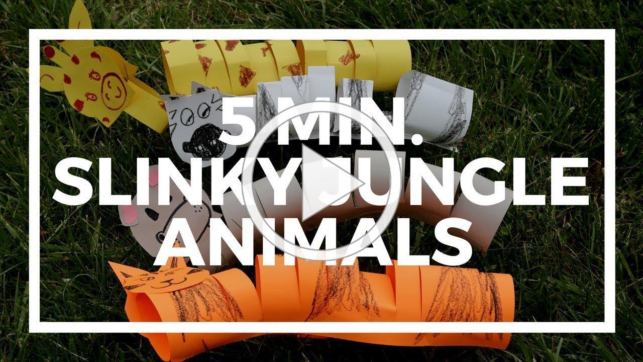 5 Minute Slinky Jungle Animals | Kaplan Early Learning Company
