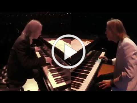 "Duo Trivella playing "" Yin & Yang, A Dialogue for 2 Pianos"" by Fred Kaufman"