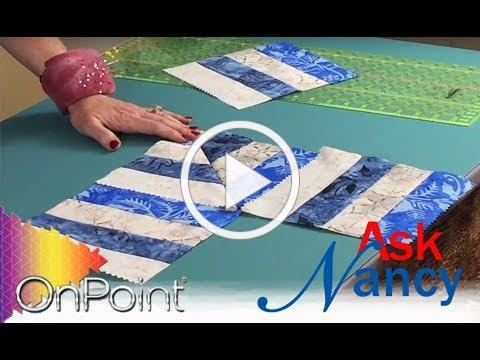 Ask Nancy - How to make EASY mitered borders!