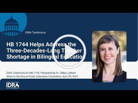 HB 1744 Helps Address the Three-Decades-Long Teacher Shortage in Bilingual Education