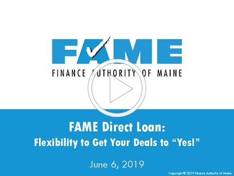 FAME Business Webinar: FAME Direct Loan