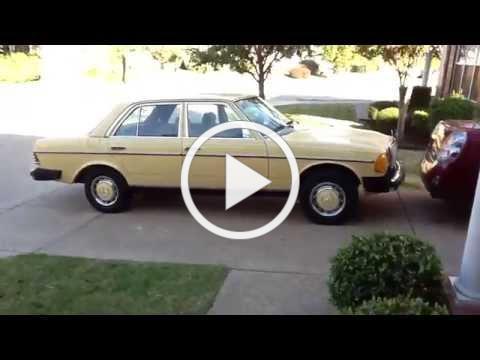 1981 Mercedes Benz 300D tour and startup