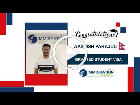 IANZ Client Success Stories | Aashish Parajuli | Granted Student Visa