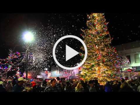 Fallon Home Christmas Tree Lighting Video 2013