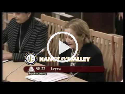DA Nancy O'Malley speaks at Senate Public Safety Committee on SB 22