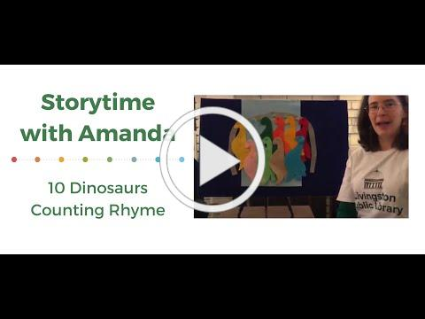 10 Dinosaurs Counting Rhyme: Storytime with Amanda