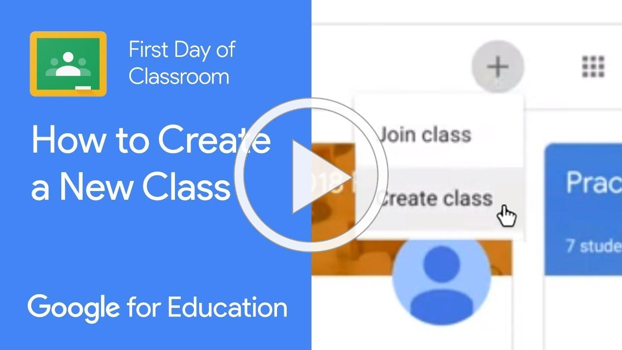 How to Create a New Class in Google Classroom