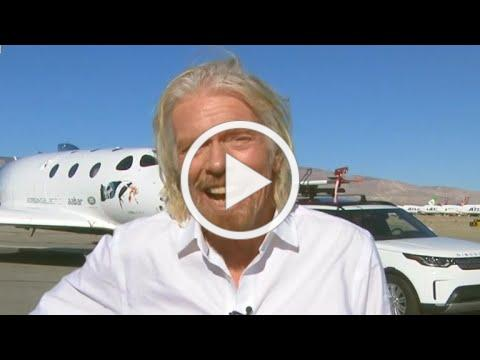 """A historic day"": Richard Branson on Virgin Galactic's space flight"