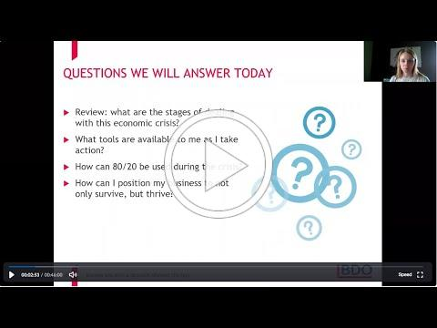 Part 2: Resiliency & Recession Response Strategy Video   May 21
