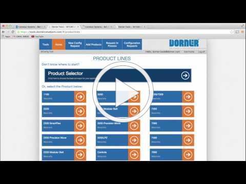 Dorner's D-Tools Conveyor Configurator