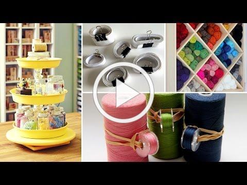 👚40 Clever Sewing Supplies Organization Ideas 2017 - Room Storage Hacks | Flamingo Mango👚