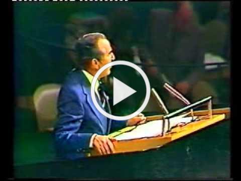 """נאום הרצוג בעצרת הכללית של האו""""ם - ארכיון המדינה"""
