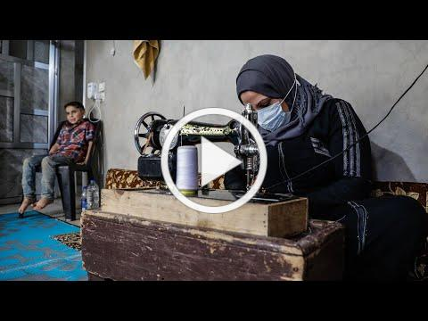 This Syrian mother used her sewing skills to make masks during the pandemic