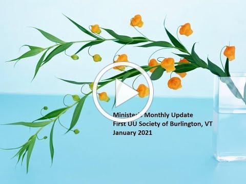 Minister's Monthly Update - January 2021