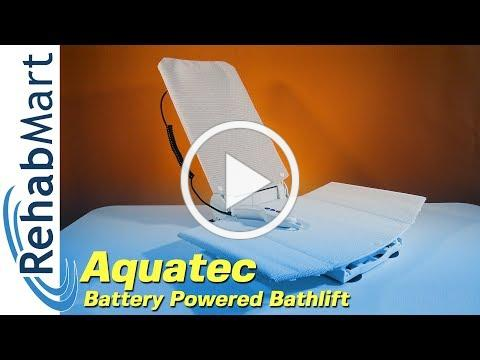 The Gold Standard in Bathlifts - Aquatec Battery Powered Bath Lift