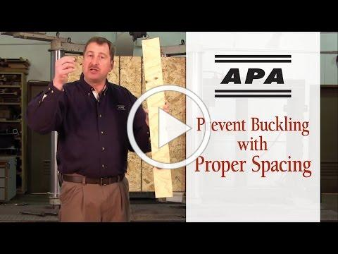 Prevent Buckling with Proper Spacing - APA Builder Tips