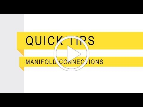 Banjo Quick Tips Manifold Connections