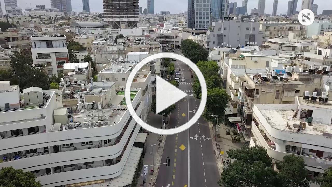 Drone shows an emptied-out Tel Aviv during coronavirus crisis