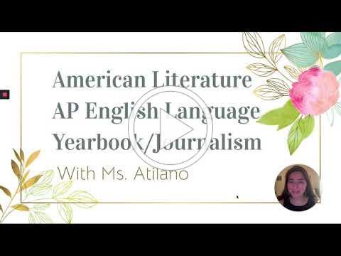 Ashley Atilano, English