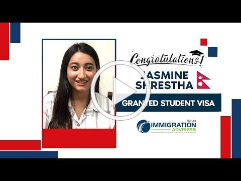IANZ Client Succes Stories | Jasmine Shreshtha | Granted Onshore Student Visa