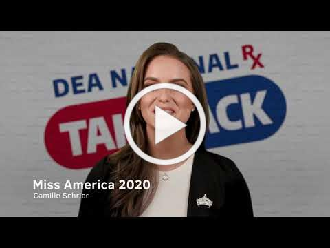 #DEATakeBack Miss America Camille Schrier 's Take Back Day PSA 30 sec (Closed Caption)