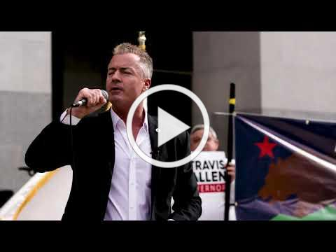 Travis Allen's Take Back California Rally on Capitol Steps