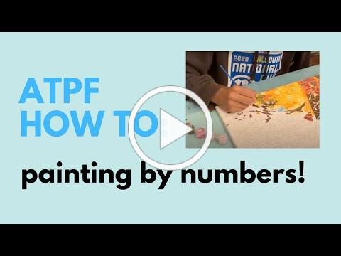 How to Paint by Numbers with ATPF-NCL Volunteer Talia Bertino