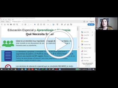 Educación Especial y Aprendizaje a Distancia - Qué Necesita Saber Toolkit