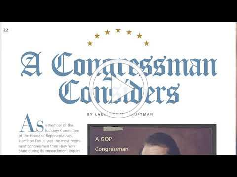 """""""A Congressman Considers"""" : an interview with Laurence M. Hauptman"""