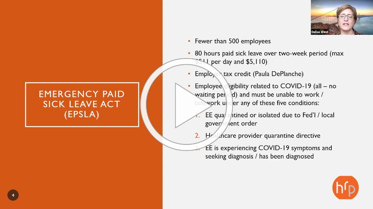Webinar: CARES Act Paycheck Protection Program Overview