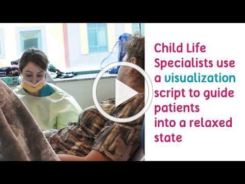 Child Life Specialists help patients relax during procedures