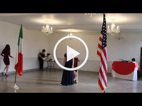2020 Casa Italia Vocal Scholarship - Turano Scholarship Winner - November 8, 2020, Video 1