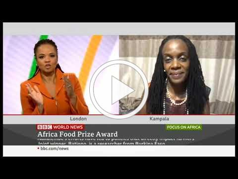 Dr. Catherine Nakalembe, a winner of the Africa Food Prize (AFP) 2020 on BBC World- Focus on Africa.