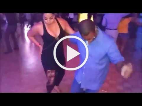 Tanja Kensinger (La Alemana) and Daniel Sanchez Berlanga Social Dancing at LA Bachata Festival (HD)