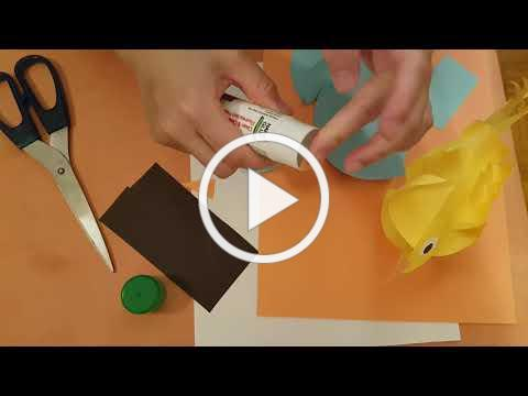 (Cantonese) 齐来做手工: 小鸟🐦。 Craft: A bird - sourced from 123 Easy paper craft...