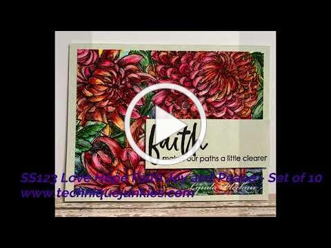 Technique Junkies August 2020 New Stamp Release Inspiration