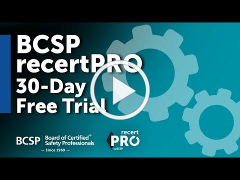 BCSP recertPRO Free Trial