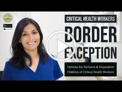 New Zealand Border Exception for Critical Health Workers