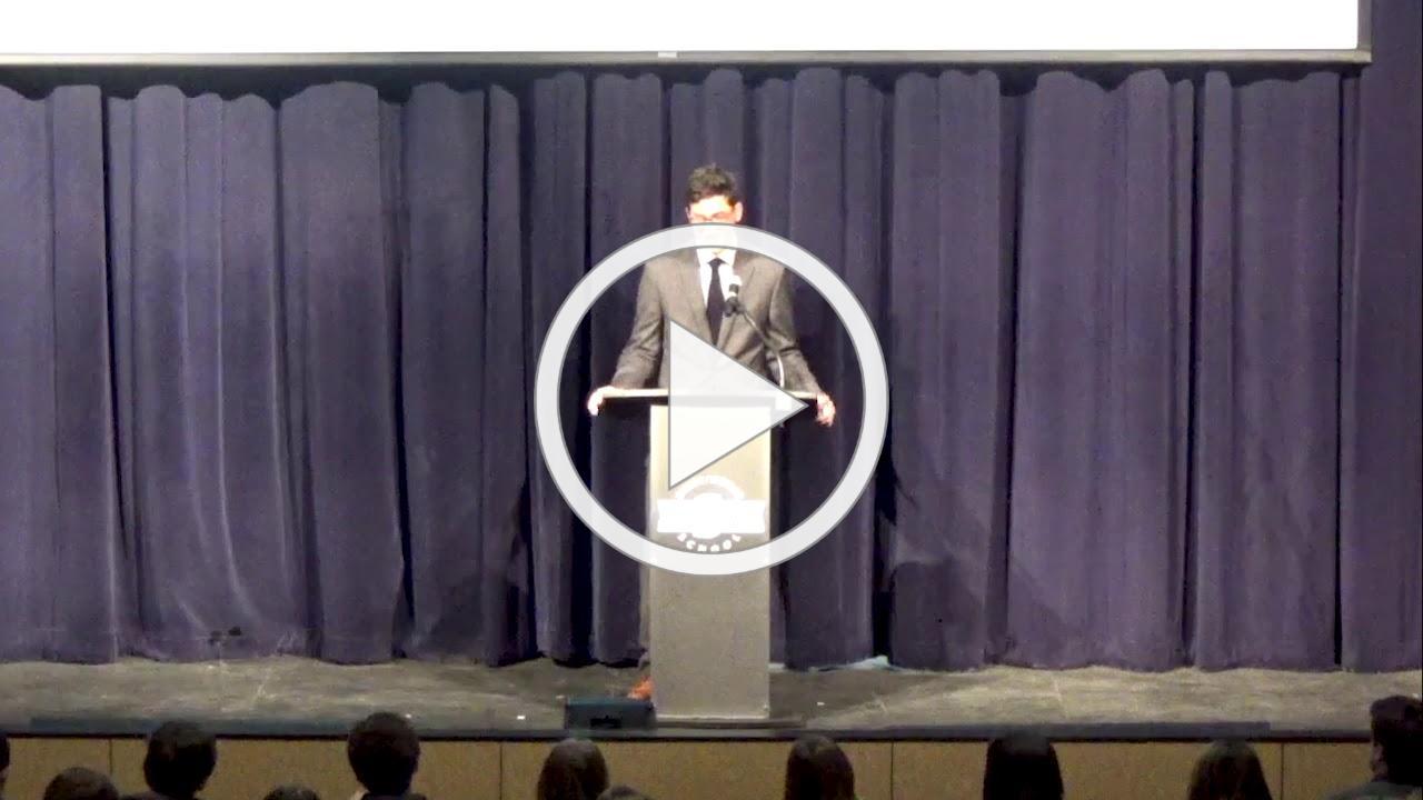 Senior Sippurim (Speech) by JPB Alum Jake Cosgrove