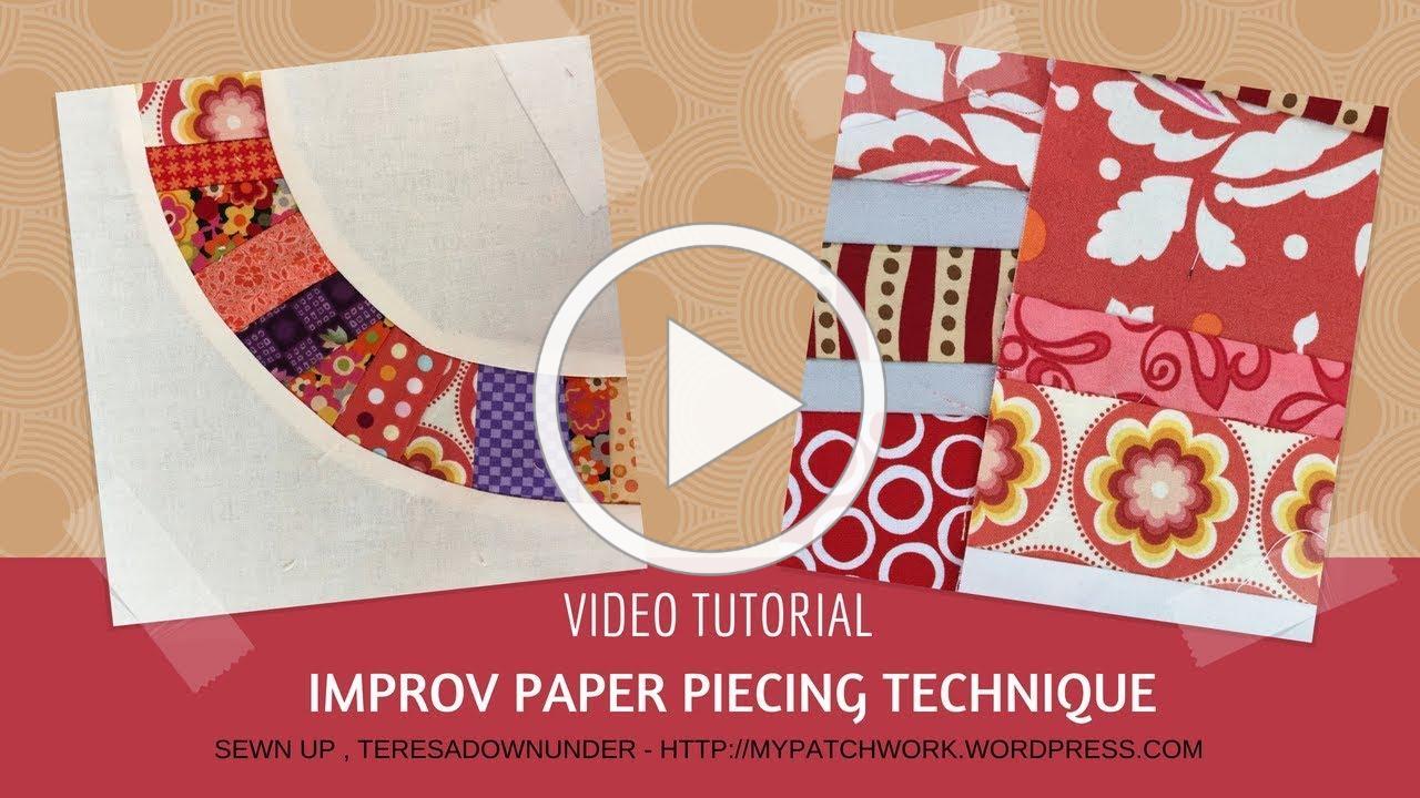 Improv paper piecing quilting technique