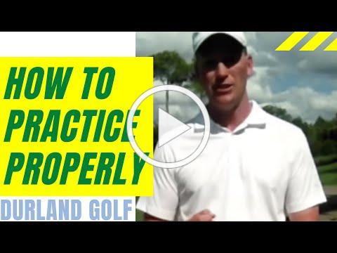 GOLF TIP | How to Practice Golf Properly