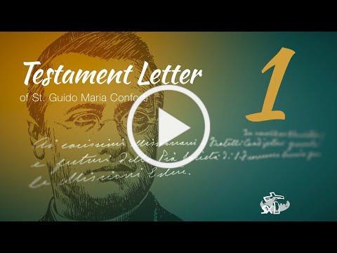 Episode 1: Testament Letter of St Guido Maria Conforti