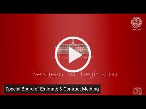 Special Board of Estimate & Contract Meeting