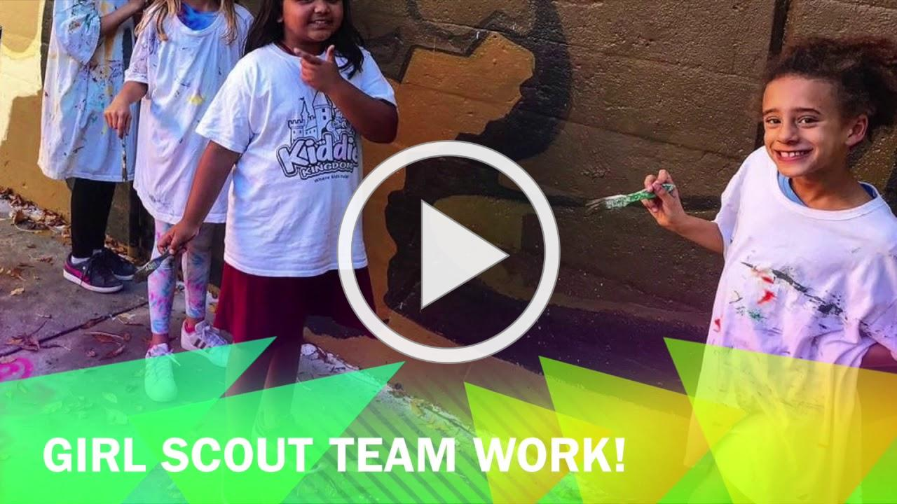 100 Years of Girl Scouts in Evanston Mural Time Lapse: Artist Cheri Lee Charlton