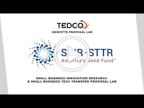 TEDCO's SBIR/STTR Proposal Lab