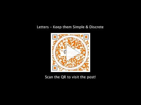 Letters - Keep them Simple & Discrete