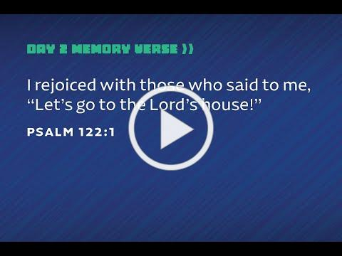 VVBS Day 2 - Memory Verse