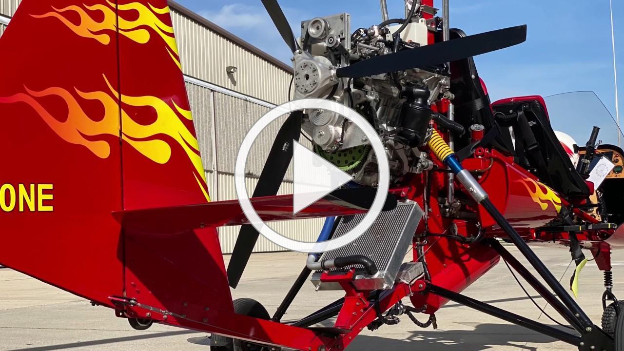 Gyro Joe and the Viking 130 engine